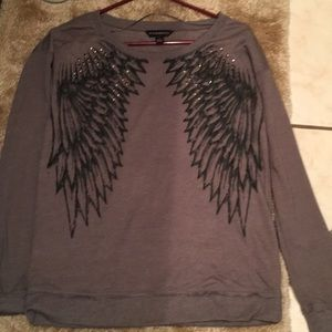 Rock and Republic angel wings sweatshirt T-shirt S